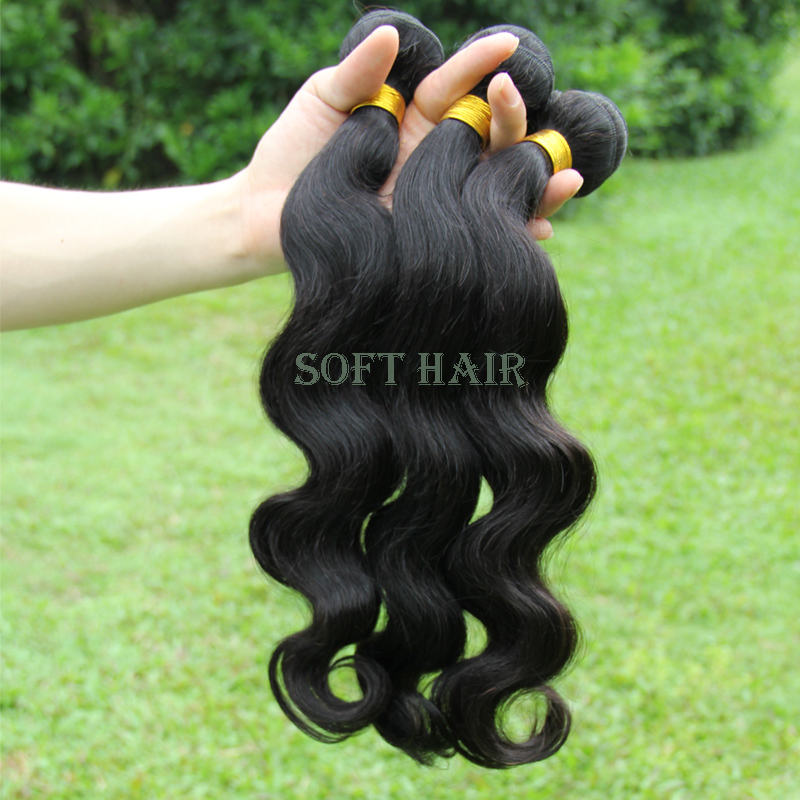 6A Unprocessed Malaysian virgin hair body wave Human Hair Extension 3 Bundles Maylasian Body Wave Cheap Malaysian Hair Weave(China (Mainland))