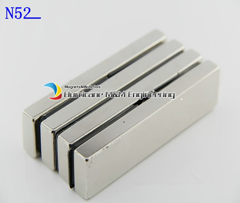 2 pcs/lot N52 NdFeB Block 100 x 20 10mm bar Strong Neodymium Permanent Magnets Rare Earth Industry Magnet