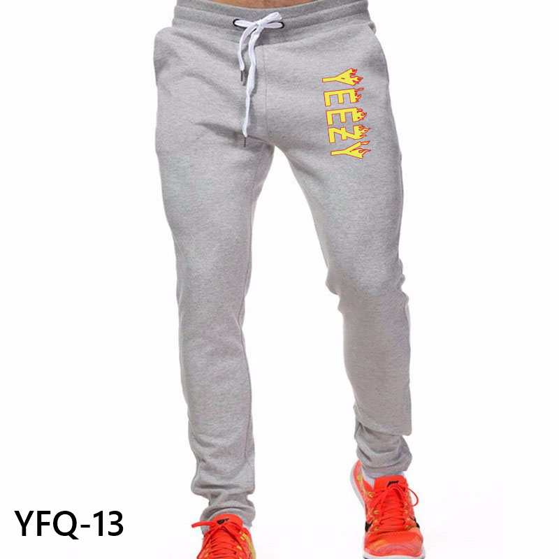 2016 New Arrival Men Pants Sports Gym Sweatpants Soccer Printing Casual Trouser jogger pant Fitness Sweat Pants(China (Mainland))