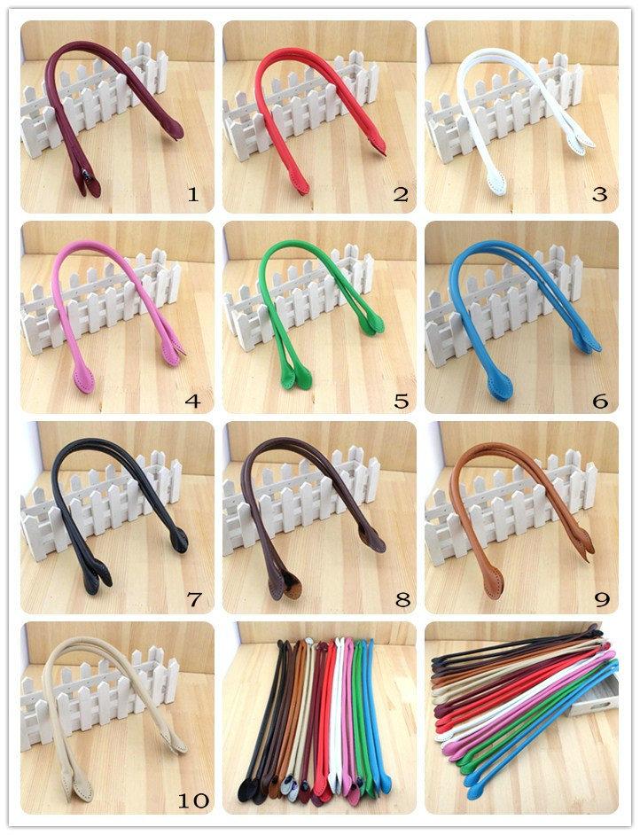 D0016 multicolor long pattern 57CM simple ear style PU leather handle bag belt DIY Lady Handbag accessories(China (Mainland))