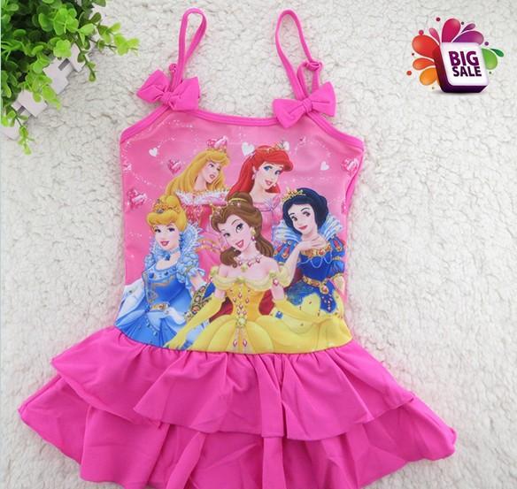 Baby Girls/ Children Swimsuits, Girl's Swimwear, Princess Cartoon Snow White swimwear Wholesale Hot Sale Baby beachwear 5pcs/lot