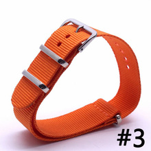 Buy Men Watch Band Straps 16 18 22 24mm Orange bracelet Nato fabric Nylon watchbands Strap Bands Buckle belt for $2.31 in AliExpress store