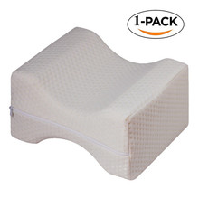 Orthopedic Memory Foam Knee Wedge Pillow for Sleeping Sciatica Back Hip Joint Pain Relief Side Sleeper Leg Pad Support Cushion(China)
