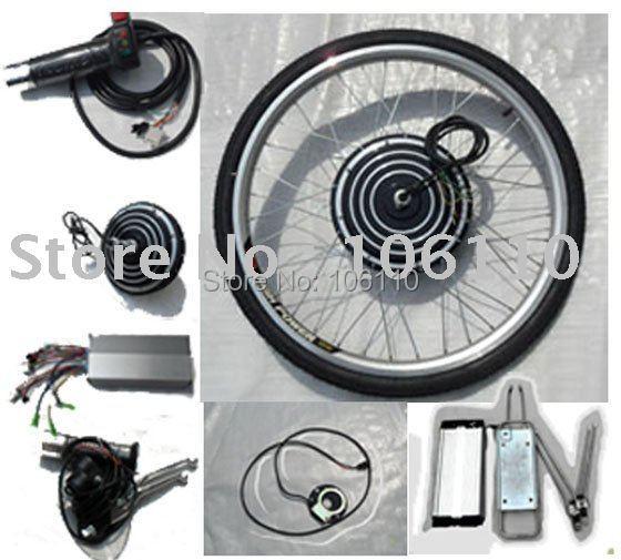 livraison gratuite 48 v 500 w v lo lectrique kit de conversion avec la roue arri re 48 v. Black Bedroom Furniture Sets. Home Design Ideas