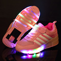 New Child Heelys Jazzy Junior Girls Boys LED Light Heelys Roller Skate Shoes For Children Kids