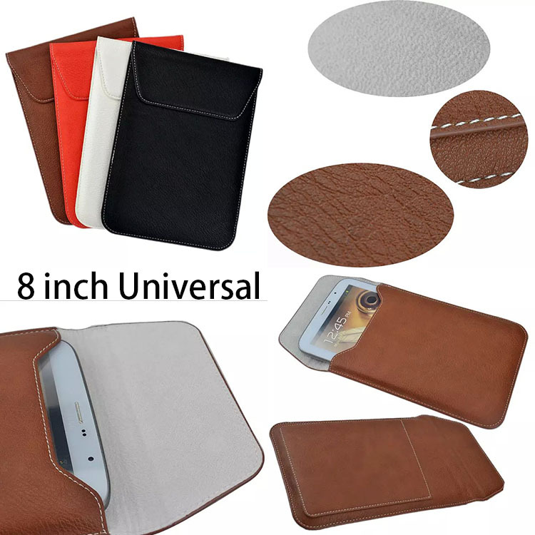 Leather Case Cover For ipad mini 1 2 3 case For Samsung Tab 8.0 Universal 8 inch Tab Bag Pocket Purse Envelop Flip Pouch Gifts(China (Mainland))