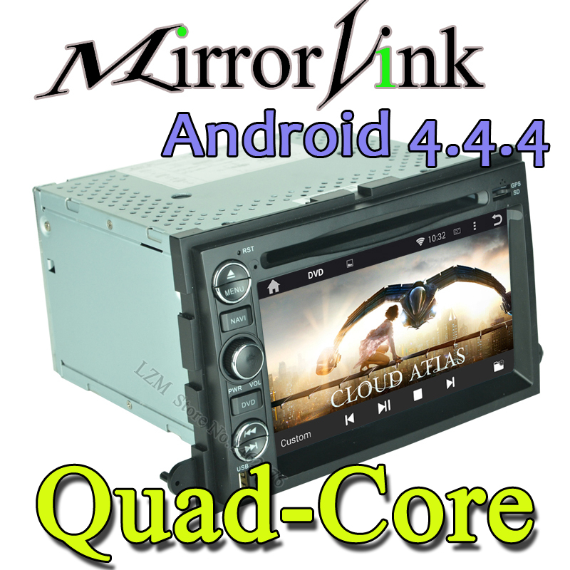 Quad Core 2 din Android 4.4 Car DVD player for ford GPS+Wifi+Bluetooth+Radio+1.6GB CPU+DDR3+Capacitive Touch Screen+car pc+aduio(China (Mainland))