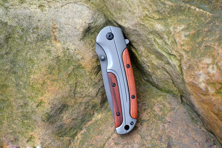 Buy Camping Titanium Folding Knife Tactical Pocket Knife Hunting Survival Knife hardness 59 HRC  EDC Tools cheap