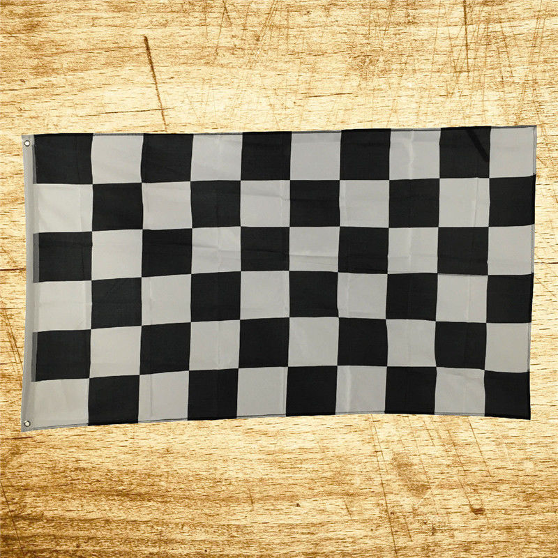 3X5 FT New NASCAR BW Black White CHECKERED CHECKER RACING BANNER FLAG(China (Mainland))