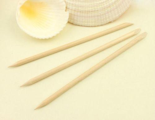 100X Orange Crude Wood Stick Cuticle Pusher Remover Pedicure Manicure nail art Tools(China (Mainland))
