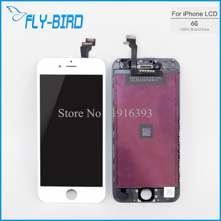 10PCS/LOT AAA Quality Mobile Phone Lcd For iPhone 6 Touch Screen Digitizer Assembly + Display Lcd Replacement Free Shipping(China (Mainland))