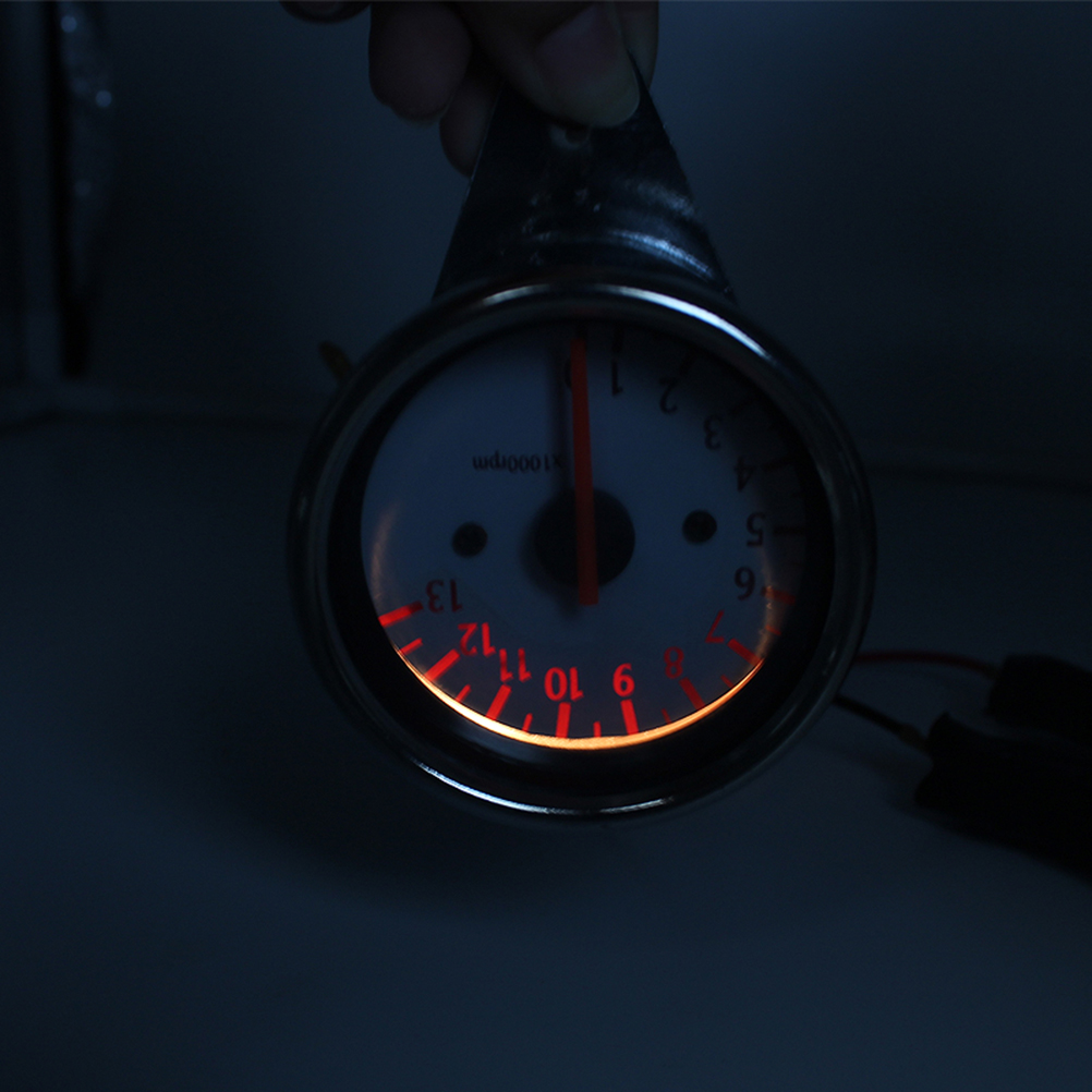 Motorcycle Speedometer Speed Gauge Speed Meter with LED Backlight (Silver)(China (Mainland))