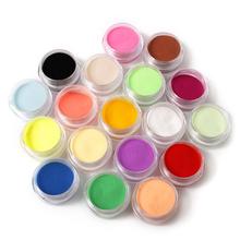 new fashion 12 Colors Nail Art Tips UV Gel Powder Dust Design 3D Decoration Manicure M01202