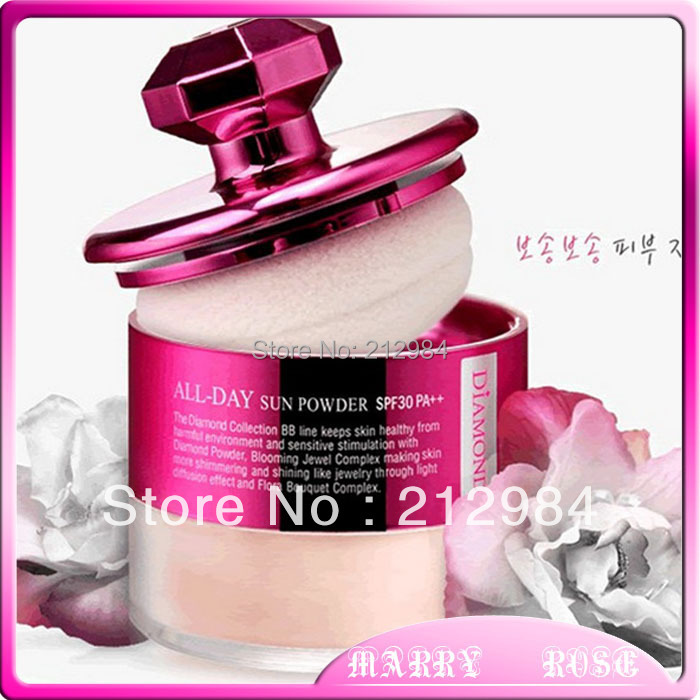 Top diamond whitening is prevented bask in honey powder/loose powder and 13g Free shipping(China (Mainland))