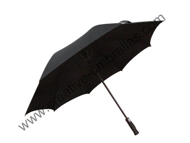 long-handle straight unbreakable self-defense golf umbrellas 14mm carbon fiberglass shaft and double fiber ribs,windproof(China (Mainland))