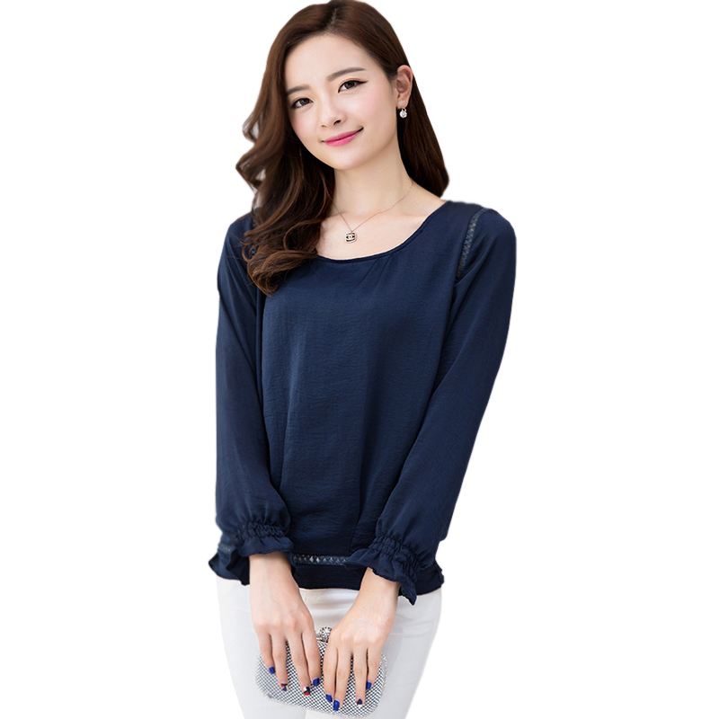 Women'S Long Sleeve Chiffon Blouse 34