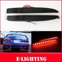 Black Smoked Lens LED Rear Bumper Reflector Backup Tail Brake Fog Light For Mazda6 Atenza M6 03-08(China (Mainland))