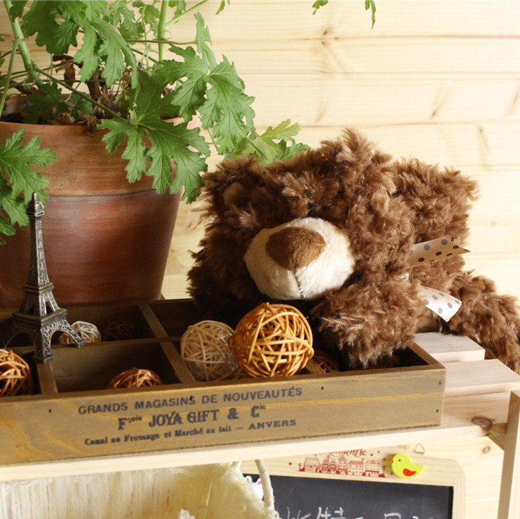 Freeshipping 39cm Ganz bear plush toy child toy birthday gift 3colour(China (Mainland))