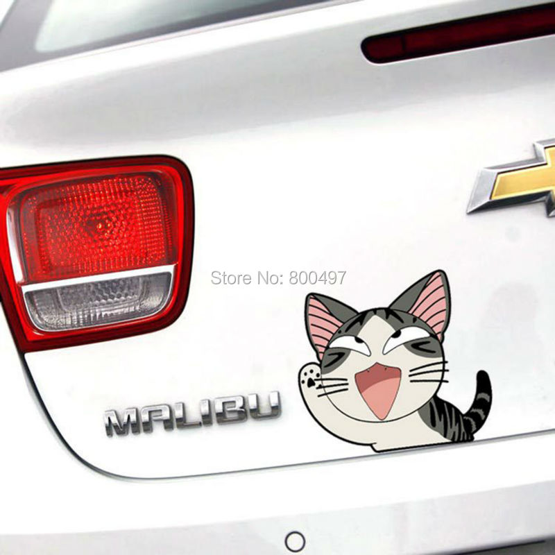 Newest Car styling Cute Cat Chi's Sweet Home Say Hi Car Stickers Car Decals for Toyota Honda Chevrolet Volkswagen Tesla BMW Lada(China (Mainland))