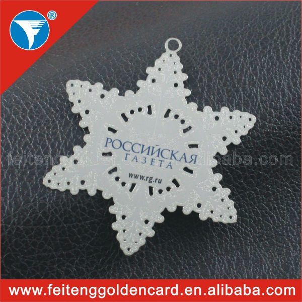 Free sample availabled custom logo engraved metal christmas ornament hot sale 2015(China (Mainland))