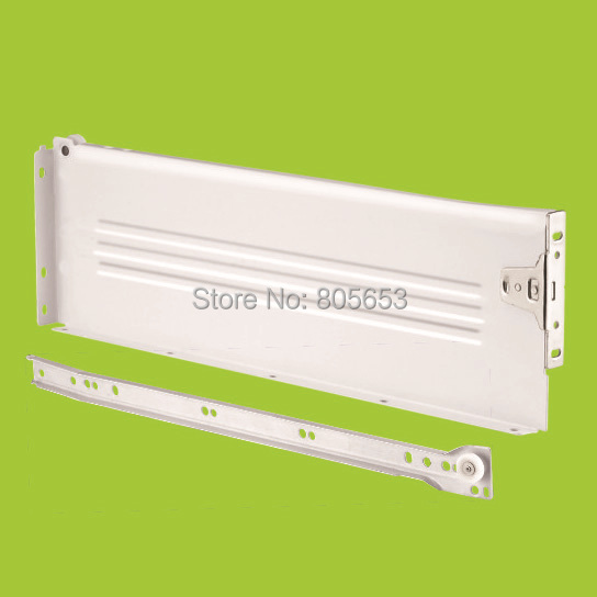 top quality 118mm high white painted panel drawer slide 12 inch (DS6112-12)(China (Mainland))