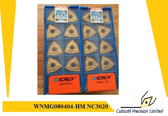 almost Whosale Korloy insert WNMG080404-HM NC3020 lathe tools turning holder carbide inserts wnmg08 - Cutoutil store