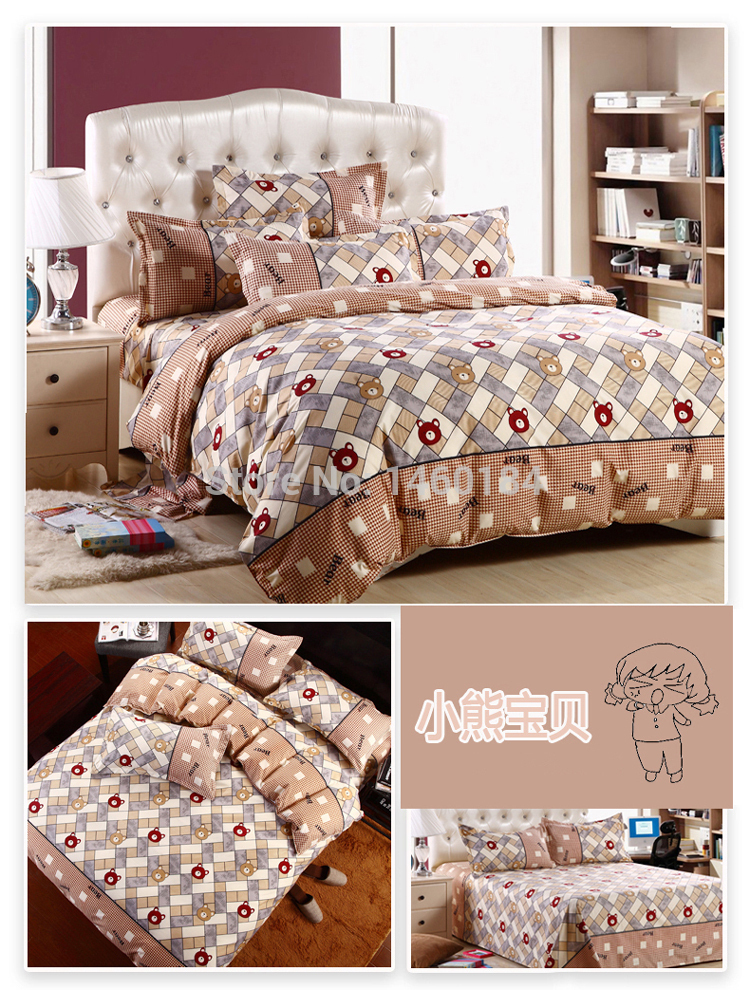N31 pure cotton housse de couette bedding set bed linen for Housse de duvet