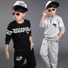2016 New Spring Autumn Boy Set Thermal Children Tracksuit Kids Clothing Suit Boys Long-sleeved Shirt+trousers Suits For 3-12yrs(China (Mainland))