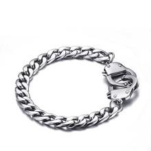 Buy LASPERAL Figaro Chain Mens Bracelet Handcuffs Pattern Clasp Stainless Steel Bracelets Trendy Lock Bracelet Women Men Jewelry for $4.04 in AliExpress store