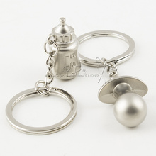 Бутылка Бесплатная доставка ребенка и соска брелок венчания и подарки сувениры свадьба сад Baby Shower Польза