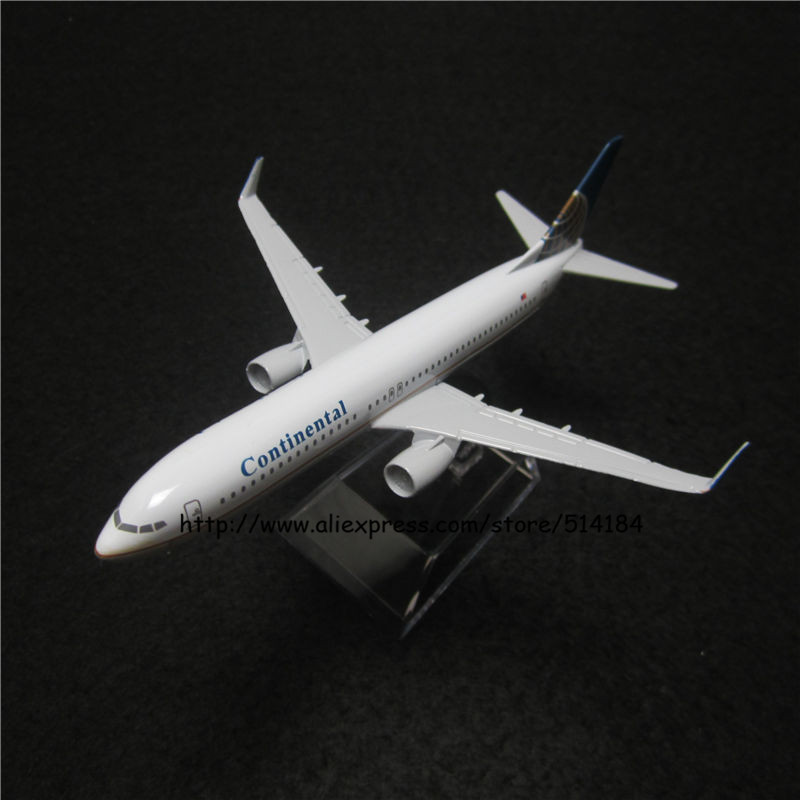 16cm Alloy Metal American Air Continental Airlines Airplane Model Boeing 737 B737 800 Airways Plane Model w Stand Aircarft Toy(China (Mainland))