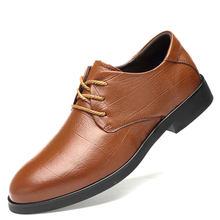 Claxneo Người Trọng Chính Hãng Áo Da Nam Giày Xã Hội Giày Công Sở Tác Oxfords Cưới Giày(China)