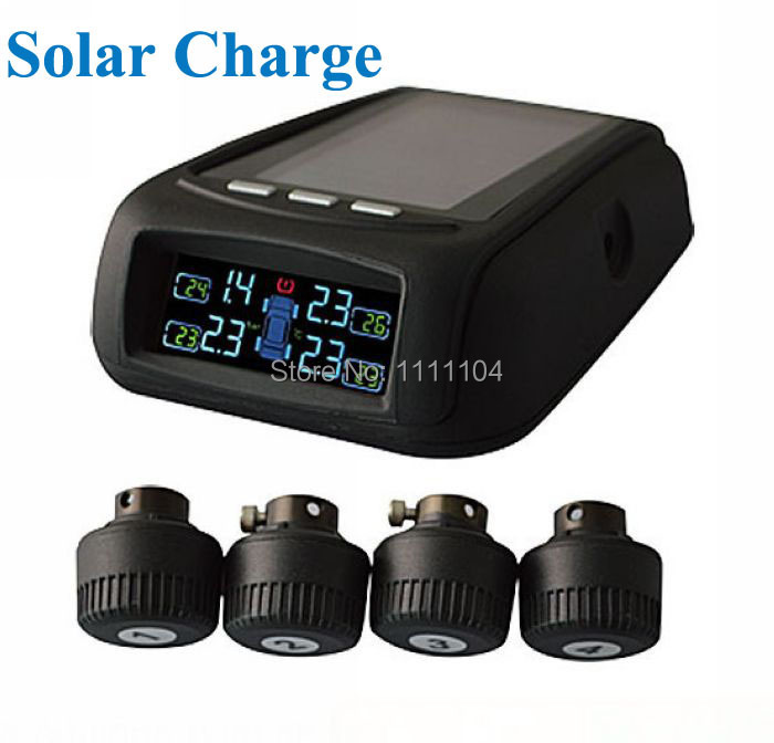 Free shipping Good performance Solar Power High Sensitive Anti-theft design tire gauges tire pressure monitor system(China (Mainland))