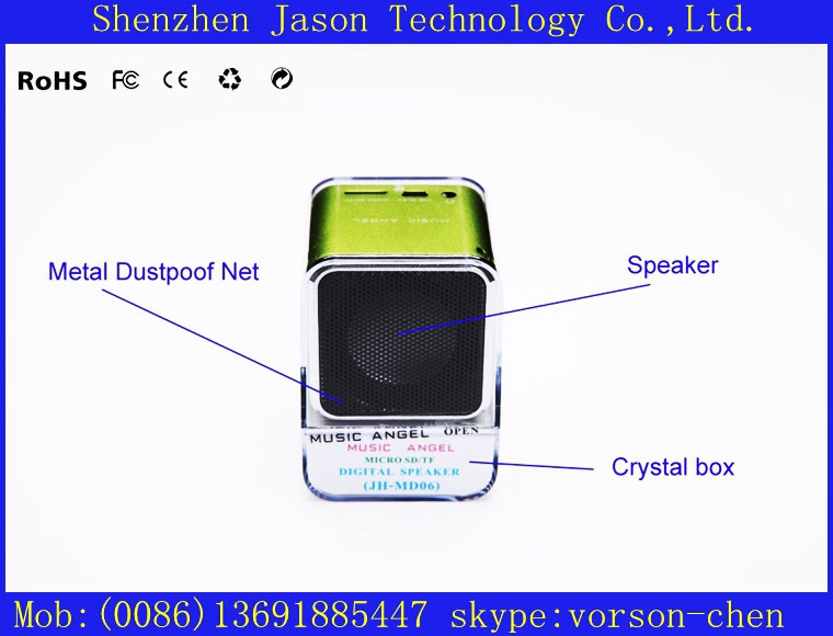 chinese audio portable digital mini headphone speakers(China (Mainland))