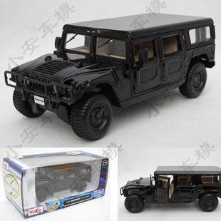 2015 best-selling Hummer H1 4Door-Wagon 1:24 Alloy Diecast Model car Black Toy Collection B1736(China (Mainland))
