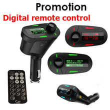 1 PCS Car MP3 player digital remote control wireless FM transmitter Mucsic Player The audio USB And Free Shipping(China (Mainland))