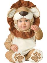 freeshipping halloween Costume Child autumn winter Clothing Jumpsuit spring & autumn animal style romper baby gift box set LION(China (Mainland))