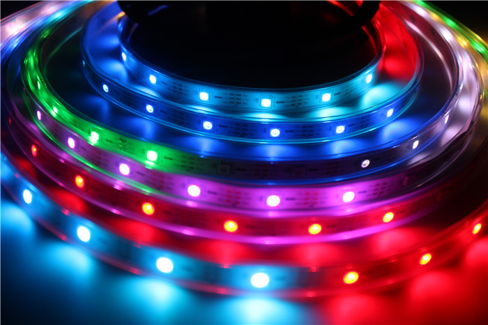 5m/lot ws2812b 150 ICs 5050 digital RGB Strip,150LED IP67 tube waterproof dream magic color 5V Led Strip,30LED/m + free shipping(China (Mainland))