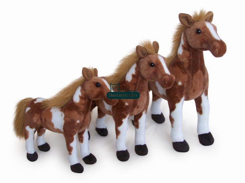 Dorimytrader 2016 New 26'' / 65cm Big Cute Plush Soft Stuffed Simulated Animal Horse Toy Great Kids Gift Free Shipping DY61023(China (Mainland))
