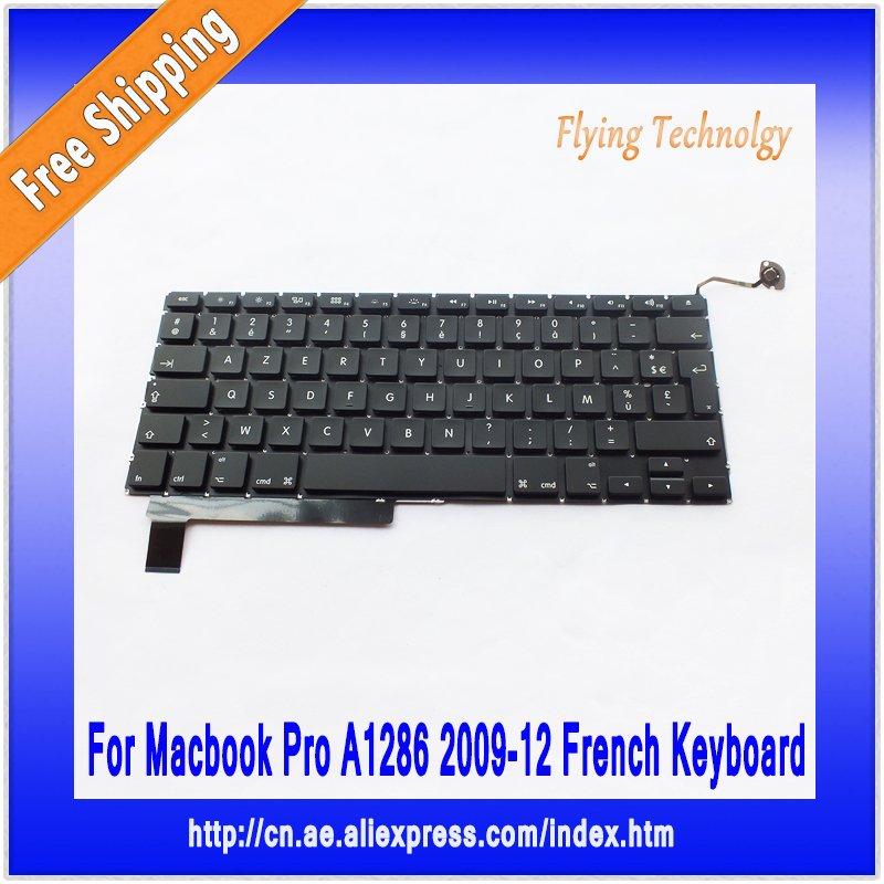 Brand New French Standard Keyboard For Macbook Pro 15 A1286 2009~2012<br><br>Aliexpress