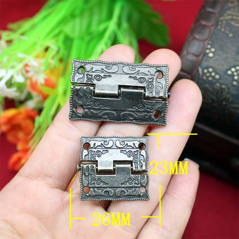 Top Fasion New Arrival Freeshipping 1/1.5 Inch Antique Wooden Gift Box Hinge Printing Packaging Zinc Alloy(China (Mainland))