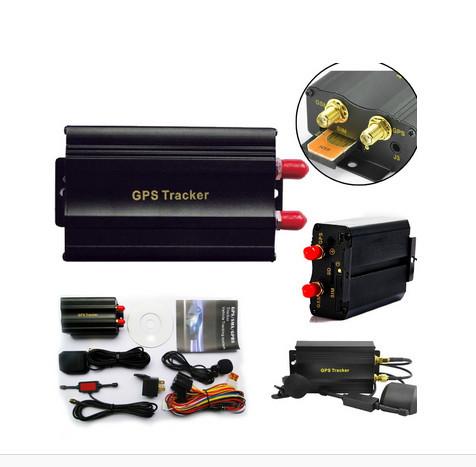 Car GSM/GPRS Tracking Vehicle Car GPS Tracker tk103a TK103 GPS103A Real time tracker Door shock sensor ACC alarm no retail box(Hong Kong)