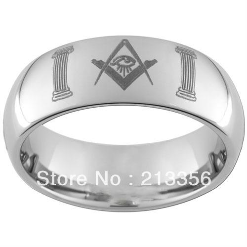 Freemason Rings Tungsten Temple Tungsten Rings