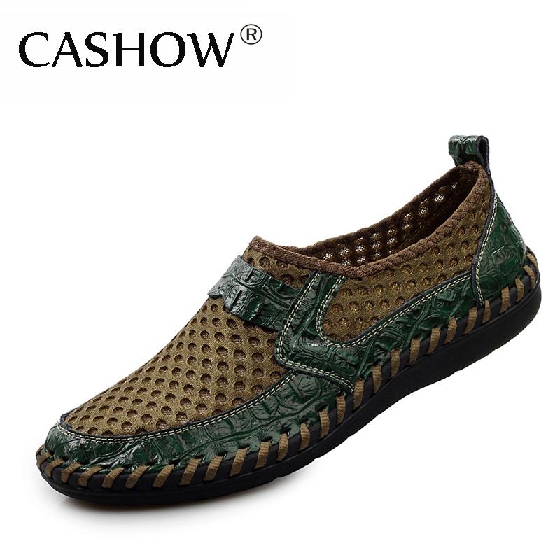 2014 Men shoes breathable genuine leather casual shoes men brand soft sandals men sport shoes summer sneakers mens flats LS088<br><br>Aliexpress