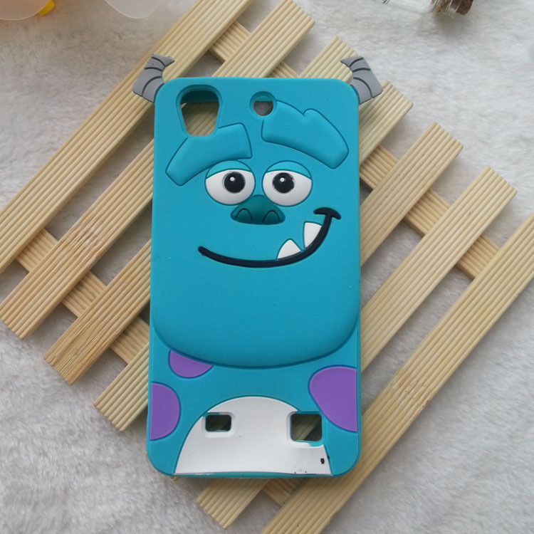 1PCS 3D Cartoon Animals Monsters Sulley Soft Silicone Case Cover For Huawei Ascend G620 G620S 630 Silicon Cell phone cases(China (Mainland))