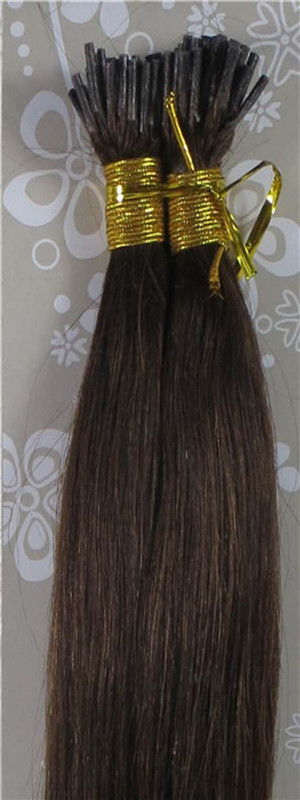 AAAA+ Brazilian Human Hair Remy I-Tip In Extensions Straight 18-32 1g/s Dark Brown #4<br><br>Aliexpress