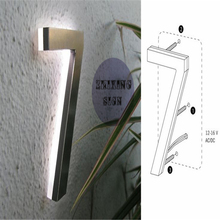 Factory Outlet Outdoor 304# stainless steel LED House Numbers & Apartment LED Numbers size H15cm(China (Mainland))