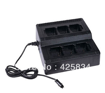 KNB15/KNB35/MP[A1200/CO040 two-way radio charger -6 way rapid