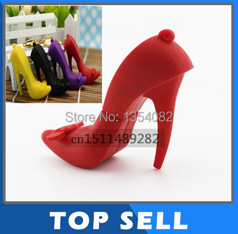 New Arrival Cartoon High Heels Shape USB Flash Drive Memory Stick Pen Drive REAL 4GB 8GB 16GB 32GB 64GB pendrive gift(China (Mainland))