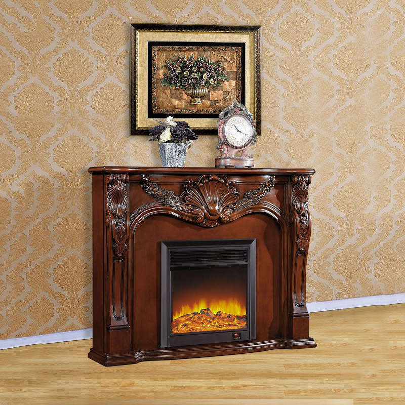 High End European Style Fireplace Carved Antique White